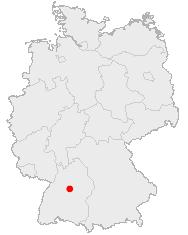 Deutschlandkarte mit Stuttgart