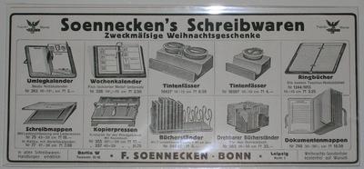 Anzeige Soennecken's Schreibwaren von 1916