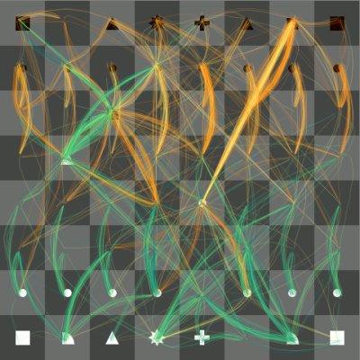 Visualiserte Darstellung der Schachberechnungen