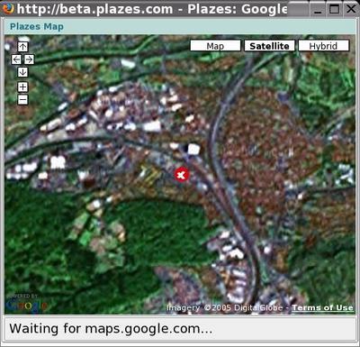 plazes.com mit Google Maps