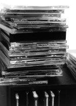 Stapel mit Musik-CDs