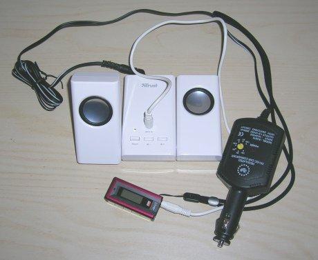 Podcasts im Auto hören - Setup mit mobilen Lautsprechern