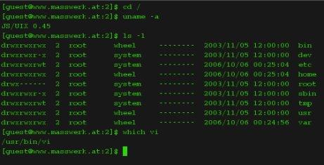 JS/UIX: Unix auf JavaScript-Basis
