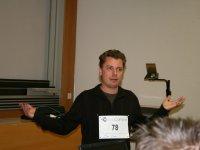 Christoph beim Vortrag über Facts 2.0