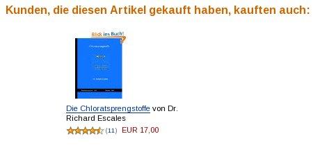 Amazon Buchempfehlung zu Sprengstoffen