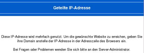 Geteilte IP-Adresseg