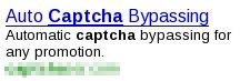 Beispiel für eine Break-Captcha-Werbung