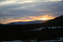 Sonnenuntergang in Bodenmais