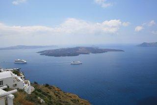 Blick von Santorini