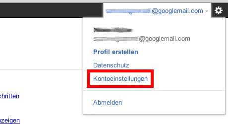 1. Schritt zum Löschen des Google-Kontos