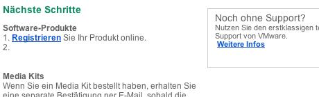1. Fehler in der Mail von VMware