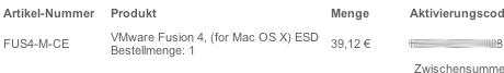2. Fehler in der Mail von VMware