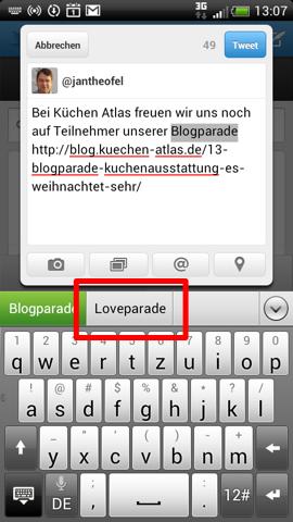 Blogparade = Loveparade?