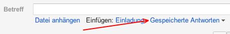 Neuer Funktionspunkt in Google Mail
