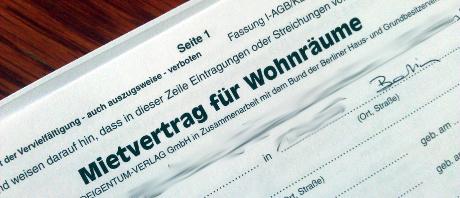 Mietvertrag für meine Wohnung in Berlin