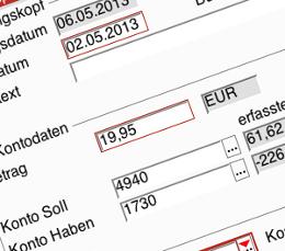 Screenshot: Buchhaltung in MercaWare