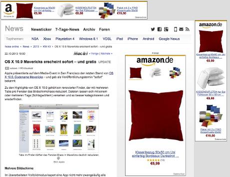 Retargeting am Beispiel von Amazon