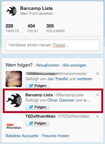 Twitter: Ich soll mir selbst folgen