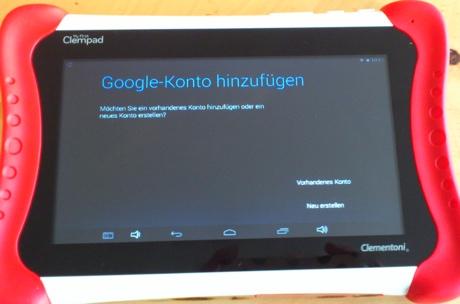 Clempad: Google-Konto erforderlich