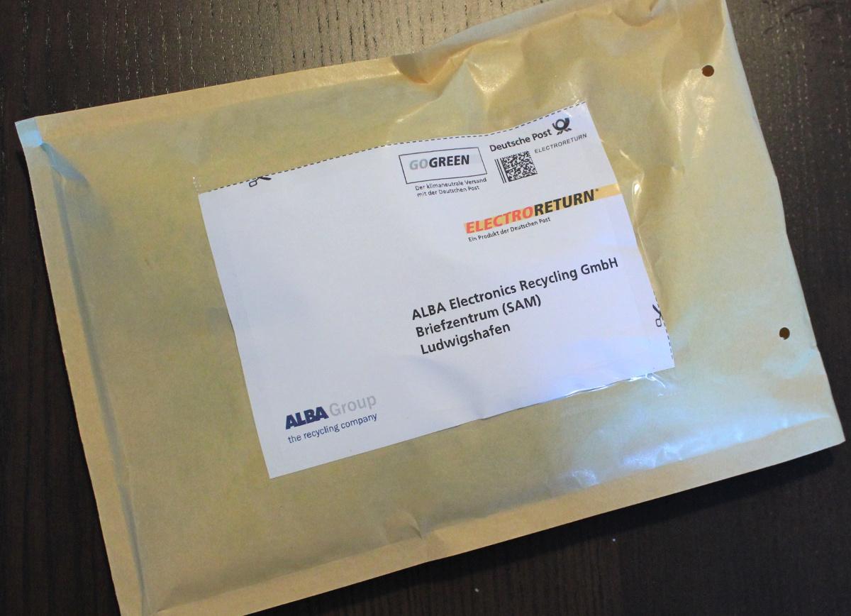 Elektroschrott entsorgen per Brief