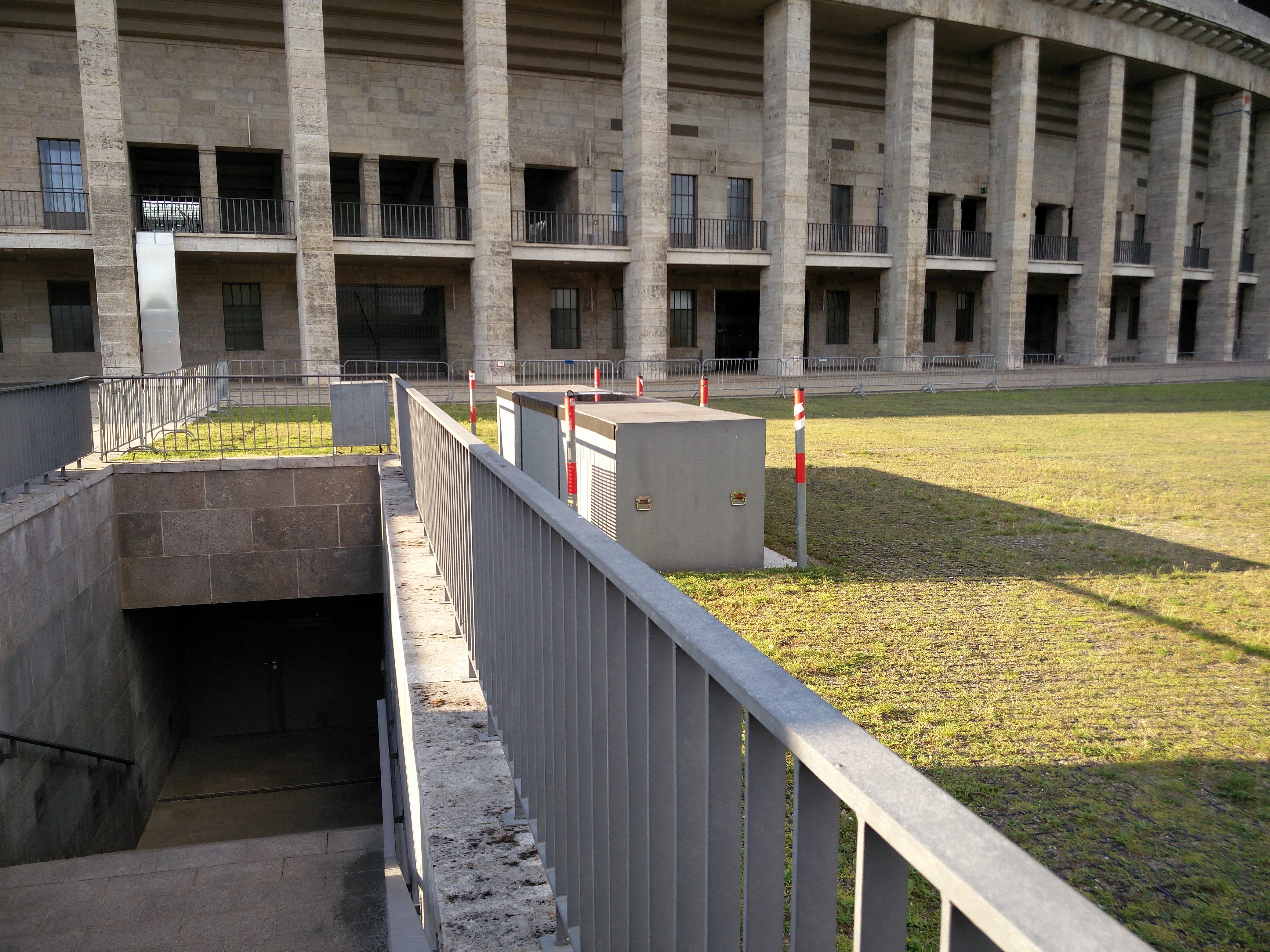 Olympiastadion Medienabwurfschacht