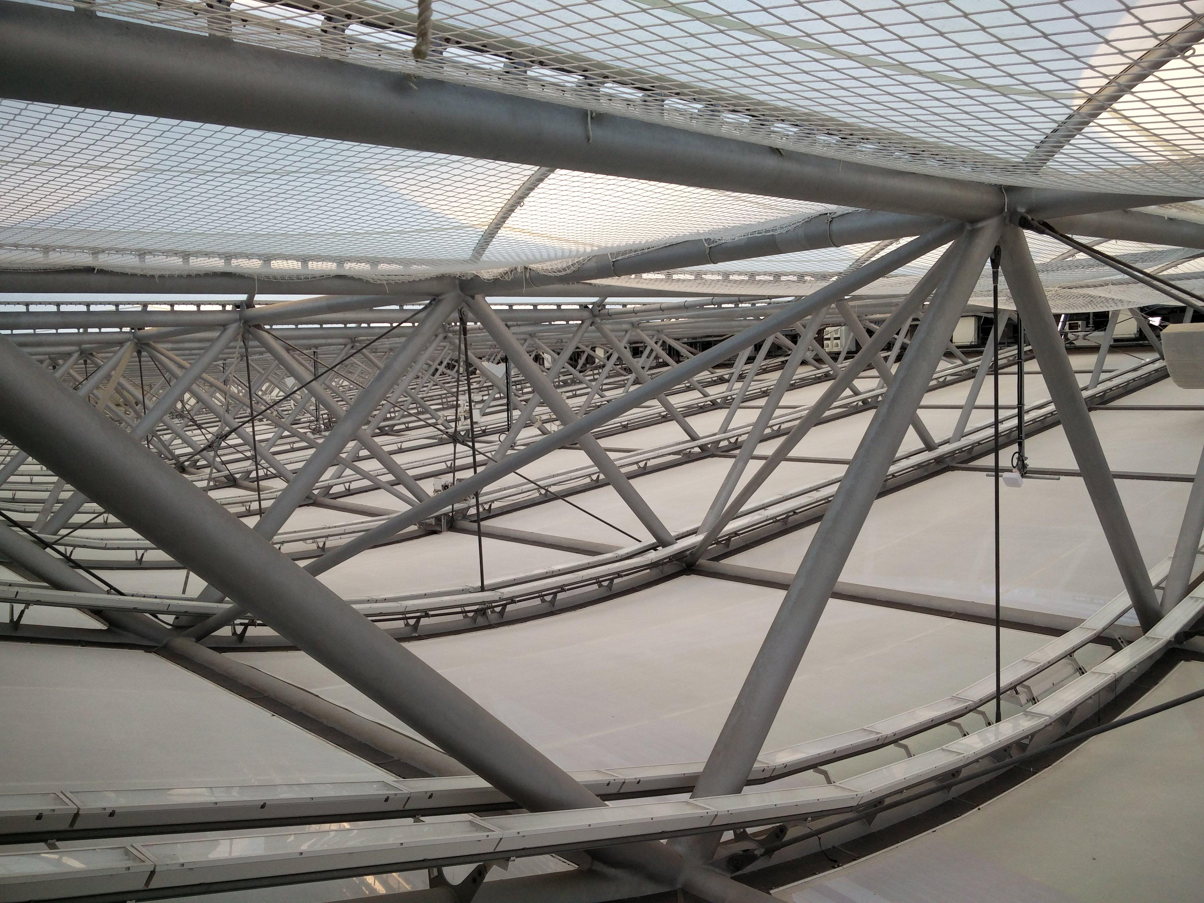 Dachkonstruktion des Olympiastadion